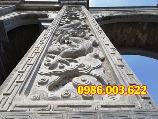 """Choáng ngợp"""" cổng làng bằng đá hơn chục tỷ đồng ở Ninh Bình"""