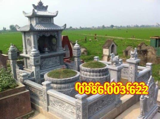 Lăng mộ đá được thiết kế đẹp mắt, nổi bật