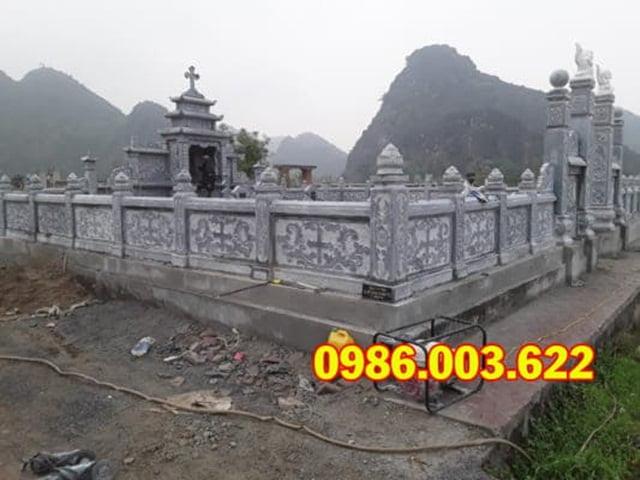 Khu lăng mộ đẹp có thể sử dụng nhiều chất liệu đá khác nhau