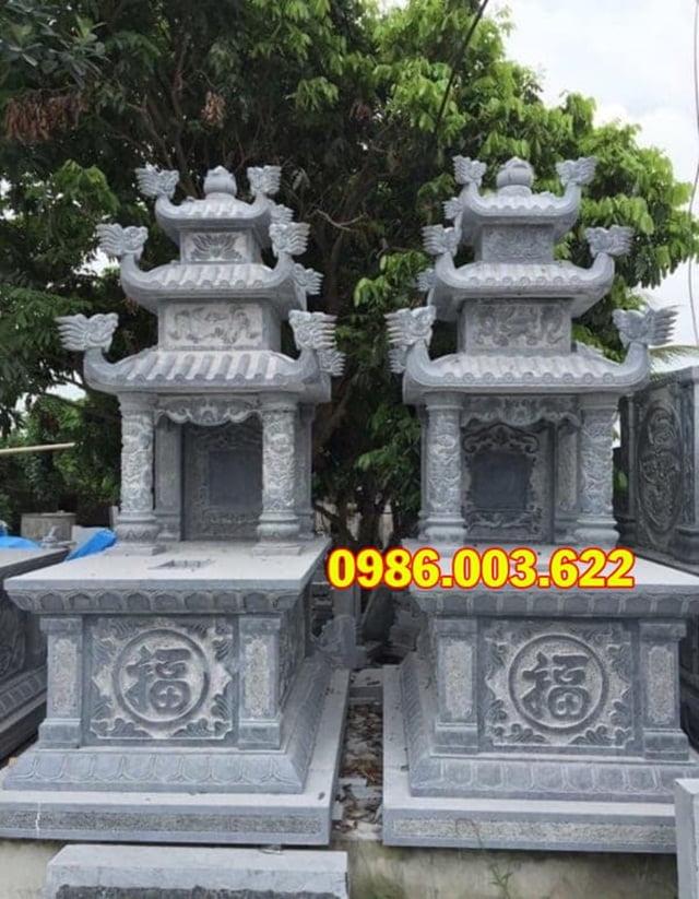 Mộ ba đao đá do cơ sở Đá Mỹ Nghệ Cao cấp Ninh Vân chế tạo