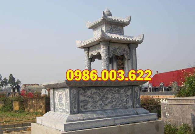 Đá xanh được sử dụng làm mộ hai đao có độ bền cao