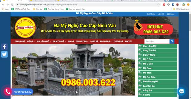 Đá mỹ nghệ cao cấp Ninh Vân chuyên thiết kế, thi công mộ tròn giá rẻ